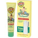 Earth's Best Strawberry & Banana Toothpaste uses all-natural ingredients like calcium lactate to safely and gently cleanse delicate gums and promote strong teeth. Best Whitening Toothpaste, Stronger Teeth, Earth's Best, Best Oral, Strawberry Banana, Natural Deodorant, Teeth Cleaning, List