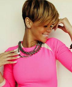 Rihannas korte frisure ... - Kortfrisuredk.com