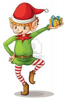 Illustration of a christmas elf