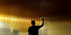 An Interactive Ceiling That Undulates as You Pass Under