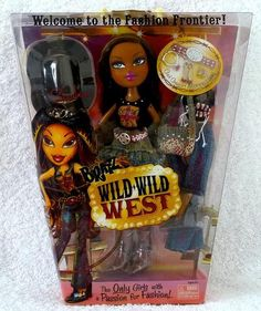 this is next ssaha  bratz on my wish list..she has green eyes i think...she is wearing same outfit as cloe wild wild west