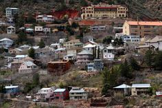 Jerome, Arizona is one of the most haunted towns in the country. Come see why Jerome is the real Halloween Town and explore all that it has to offer. Haunted Towns, Most Haunted, Jerome Grand Hotel, Ghost Towns In Arizona, Old West Town, Winery Tasting Room, Ghost City, Halloween Town