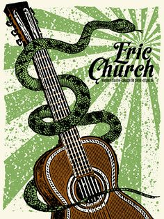 Eric Church by Nate Duval Type Posters, Band Posters, Cool Posters, Music Posters, Poster Prints, Conceptual Drawing, Take Me To Church, Eric Church, Concert Posters