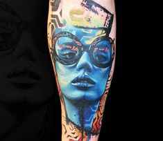 Girl Face tattoo by Rich Harris