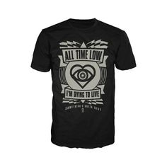 All Time Low Merchandise - Clothing, T-Shirts & Posters - Stereoboard found on Polyvore featuring women's fashion, tops, t-shirts and low top