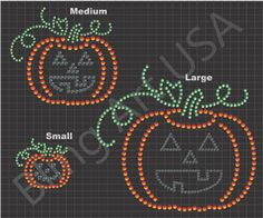 Jack O Lantern Rhinestone Sticky Flock Pattern Design Download File EPS PLT SVG PDF Stencil Template Bling Art