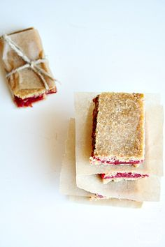 gluten free} peanut butter and jelly bars heathersfrenchpress.com # ...