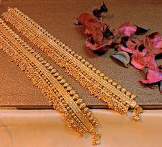 Jewellery wedding spl polki payal in gold plating. - wedding spl polki payal in gold plating. Stylish Jewelry, I Love Jewelry, Jewelry Shop, Jewelry Making, Anklet Jewelry, Wedding Jewelry, Jewelry Clasps, Bead Jewelry, Antique Jewellery Online