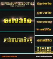 12 Photoshop Gold Text Effect Styles Vol 25 by GraphixRiver