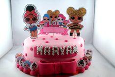 lol surprise 3 Tout Rose, Birthday Cake, Desserts, Food, Lol Dolls, Sugar Paste, Raspberry, Birthday Cakes, Meal