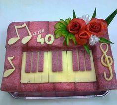 Slaná torta - klavír
