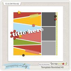 October Template Challenge: Digital Scrapbook Template Freebie from Scrapping with Liz #swl #digiscrap #scrappingwithliz