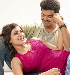 Vijay Cute Celebrity Couples, Cute Couples, Wedding Couple Poses Photography, Photography Poses, Sachin Movie, Samantha Images, Song Images, Indian Actress Images, Most Handsome Actors