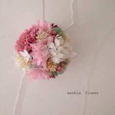 春のフラワーボール❀ - marble flower *