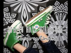 How To Make Polymer Clay Doll Shoes: Converse/Chucks/All Stars Sneakers