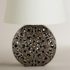Day #28 I should have checked out this site sooner. Another great discovery at WorldMarket.com: Zinc Medallion Table Lamp Base