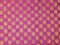 Fat quarter Pink and Gold Indian silk brocade fabric