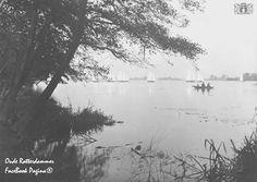 Gezicht op de kralingseplas met vissers en zeilers 1924-1930