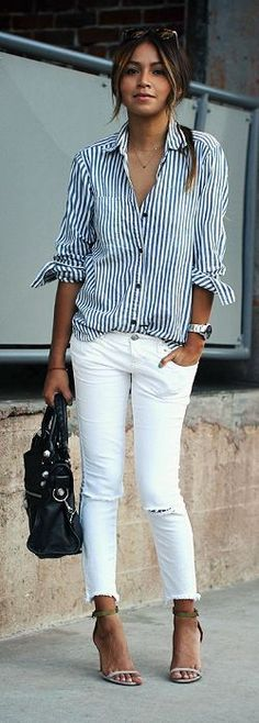 cropped + white + stripes.