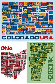 Aaron Draplin U.S. State Posters