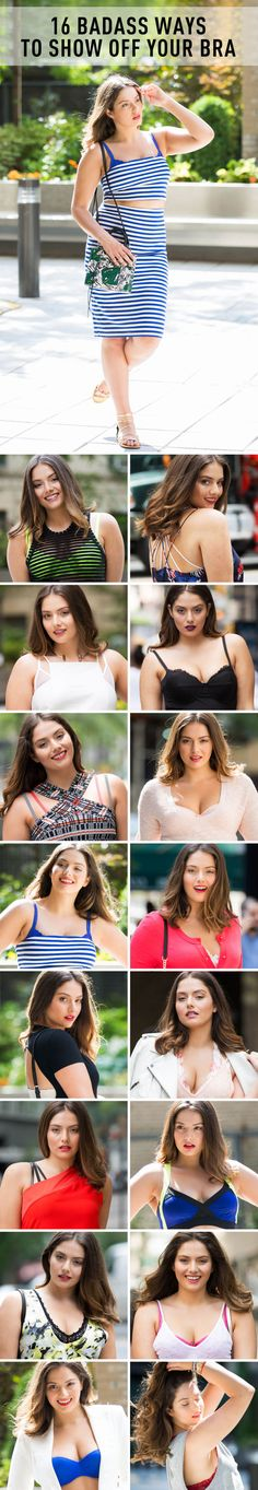 Best to just embrace your bra and make it part of your look from the very beginning. Here are 16 ideas to help inspire you.