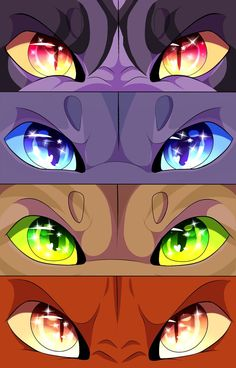 Warrior Eyes #6 by CatFurries Characters: Thistleclaw, Sandstorm, Stonefur, Brick