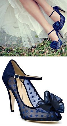 blue sheer polka dot kate spade wedding heels via Pretty Shoes, Beautiful Shoes, Cute Shoes, Me Too Shoes, Stilettos, High Heels, Pumps, Keds, Kate Spade Heels