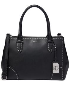 Lauren Ralph Lauren Rothwell Double Zip Large Satchel Handbags    Accessories - Macy s a527845daf