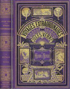 "Jules Verne ""Voyages Extraordinaires"" http://kapryfolium.pl/?p=3396"
