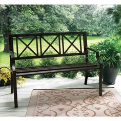 b 15006 modern outdoor bench wood slats cast iron leg pvc backrest