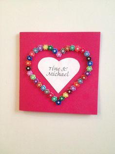 Hama beads│Copper wedding greeting card│Design © 2013 Lene Holm Gamborg