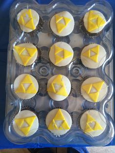 Triforce cupcakes for my son's Zelda birthday party