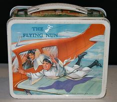 The Flying Nun Vintage Lunch Box (Screen Gems 1968 Antique Metal Lunchbox) - Lunch boxes - Lunch Box Thermos, Tin Lunch Boxes, Vintage Lunch Boxes, Metal Lunch Box, The Flying Nun, School Lunch Box, Whats For Lunch, Vintage Ads, Vintage Stuff