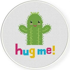 Hug Me! Cross Stitch Illustration