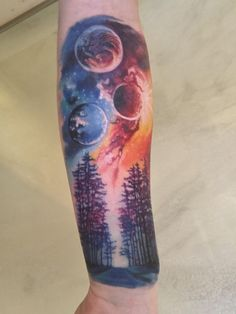 My first ever tattoo Earth & Space by Maddalena @ Bamboo Tattoo Studio Toronto Japanese tattoo sleeve