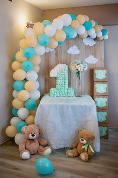 30 New Teddy Bears Baby Shower theme . Teddy Bear Baby Shower Ideas Printable by Epic Parties by Teddy Bear Nursery, Teddy Bear Baby Shower, Baby Shower Candy, Boy Baby Shower Themes, Baby Shower Balloons, Baby Boy Shower, Baby Balloon, Baby Showers, Teddy Bear Birthday