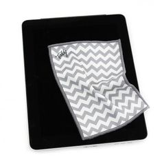 Silver Chevron Smart Cloth- Who doesn't love a chevron print? Now you can use it to clean your screens and lenses with this microfiber cleaning cloth! #chevron #clean #fashionable