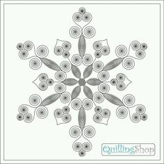 Quilling Snowflake Pattern | Quilling Snowflake Pattern | snowflakes pattern | Quilled Snowflakes