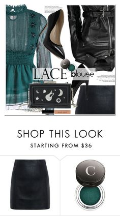"""""""lace blouse"""" by paculi ❤ liked on Polyvore featuring McQ by Alexander McQueen, Chantecaille, Bobbi Brown Cosmetics, StreetStyle and rockchic"""
