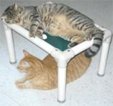 Kuranda PVC cat & dog beds - need to make some of these myself. Our cats would love a cat hammock like this.