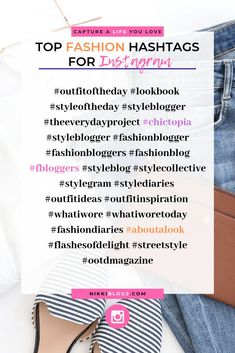I chose this one because people can look at these hashtags for fashion ideas or can share their own style Instagram Hashtags For Likes, Insta Hashtags, Instagram Tips, Instagram Fashion, Instagram Quotes, Instagram Makeup, Most Used Hashtags, How To Use Hashtags, Famous Hashtags