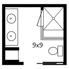 Planning a Bathroom Layout - Bath with double vanities & shower