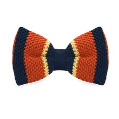 New Arrival Knitted Crochet Men`s Bow Tie Adjustable Multi color Striped Pattern For Men Party Business