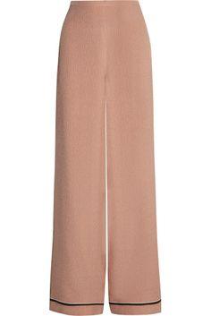 Rochas Silk-Cloque Wide Leg Pants, $1,525 #fashion #couture #springtrends