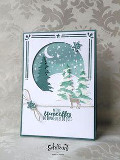 Des cartes de Noël chic et rapides avec l'ensemble Cantiques de Noël - Aurélie Fabre -