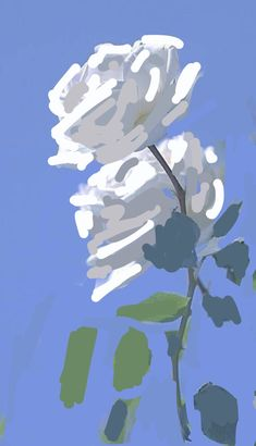 White roses blue sky 2020 White Roses, Still Life, Sky, Floral, Artwork, Blue, Heaven, Work Of Art, Auguste Rodin Artwork
