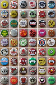 some ideas for how to display my bottle cap collection...i like the idea of including a grid! (visualstreak.com)