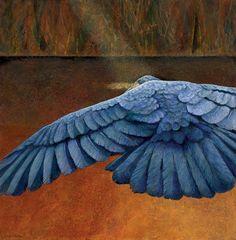 Claire Duncan, Black Bird: Dark Evasions, Acrylic, 24 x 24