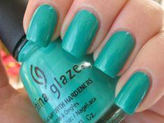 China Glaze Turned Up Turquoise, BN, $4