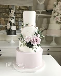 Plain Wedding Cakes with flowers I Like (Romy) Floral hoop wedding cake. Plain Wedding Cakes, Wedding Cake Prices, Fall Wedding Cakes, Floral Wedding Cakes, Wedding Cakes With Cupcakes, Wedding Cakes With Flowers, Wedding Cake Designs, Floral Cake, Beautiful Wedding Cakes